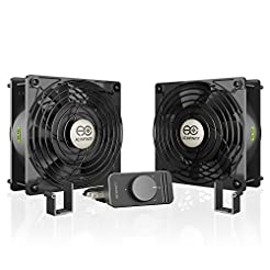 AC Infinity AXIAL S1238D, Dual 120mm Muf...