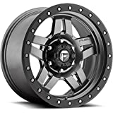 fuel anza wheels - Fuel Anza 15 Gray Wheel / Rim 5x4.5 with a -18mm Offset and a 72.6 Hub Bore. Partnumber D55815806537