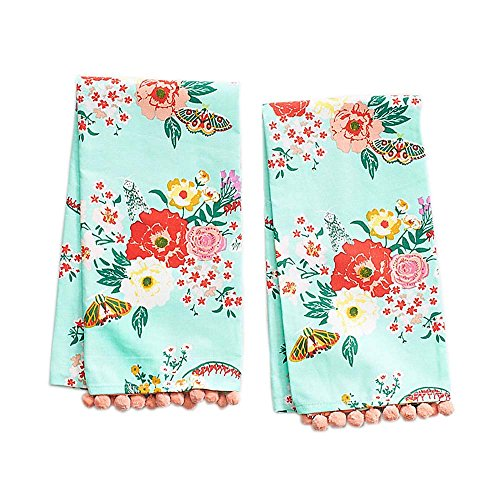 Paper Source Mint Floral Tea Towels Set of 2