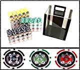 1000 Ct Ace Casino Acrylic Poker Chip Set with 10 Clear Chip Trays