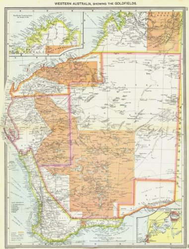 Map Of Australia Showing Perth.Amazon Com Australia Western Goldfields Maps Of Northern
