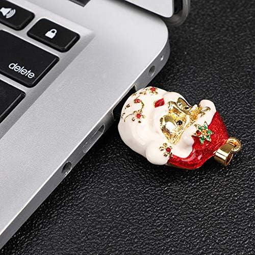 Lyperkin Christmas Crystal Christmas Socks 8GB-128GB USB Flash Drive USB 2.0 Thumb Drives Jump Drive Fold Storage Memory Stick Storage Key Pen U Disk.