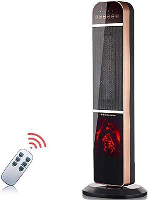 LISI Ventilador Torre, Rotación Inteligente Temperatura Constante Inteligente 2000W HD Digital Display Touch Screen Button Protección contra Sobrecalentamiento, Apto ...