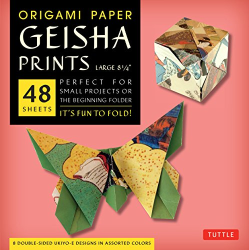 (Origami Paper - Geisha Prints - Large 8 1/4