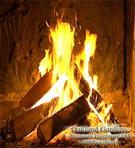CRACKLING FIREWOOD Fragrance Oil - Warm woods blended with sweet raspberry vanilla - By Oakland Gardens