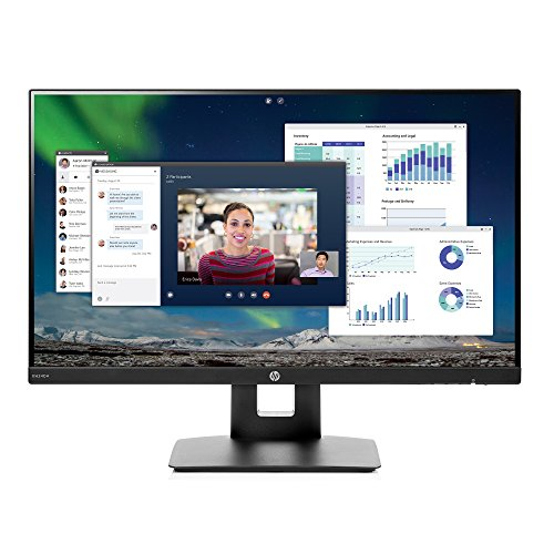 HP 23.8-inch FHD IPS Monitor with Tilt/Height Adjustment and Built-in Speakers (VH240a, Black) by HP