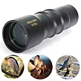 GESU 16x40 Compact Sports Monocular Telescope Pocket Mono Spotting Scope With Pouch And Cleaning Cloth For Camping Hiking Outdoors Birdwatching(Black)