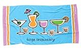 "Funky Binge Responsibly"" Oversized Funny Beach Towel"""
