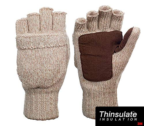 Metog Suede Thinsulate Thermal Insulation Mittens Beige S