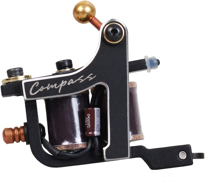 Compass Tattoo Machine Fuego Liner Tattoo Gun Steel Frame Copper ...
