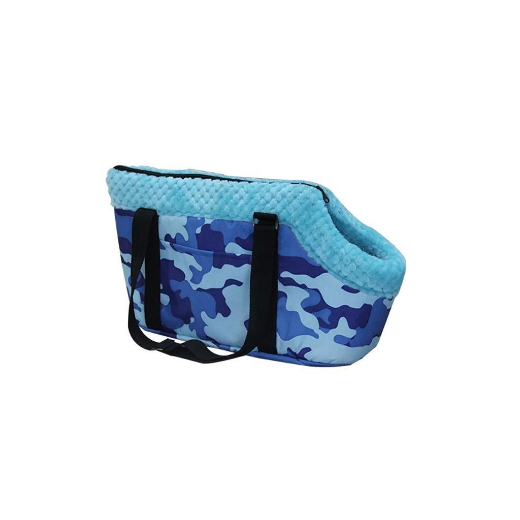 Beige 4525Pet Dog Cat Carrier Outdoor Backpack Portable Travel Bag Breathable Portable Messenger Bag Pet Supplies (color   Beige, Size   45  25)