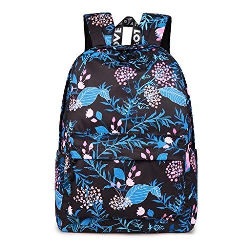 Travel Backpack Flower Printing Bagpack Waterproof Daily Rucksack Laptop Bookbag School Backpacks Girls