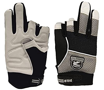 Gatorback 634 Fingerless Goat Skin Leather Professional Work Gloves. Made for Electricians, Framers, Carpenters, Contractors