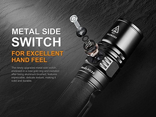 Fenix PD35 Version 2 2018 Upgrade 1000 Lumen Flashlight w/ 2X 3500mAh Rechargeable Batteries, are-X2 Charger and LumenTac Battery Organizer by Fenix (Image #2)