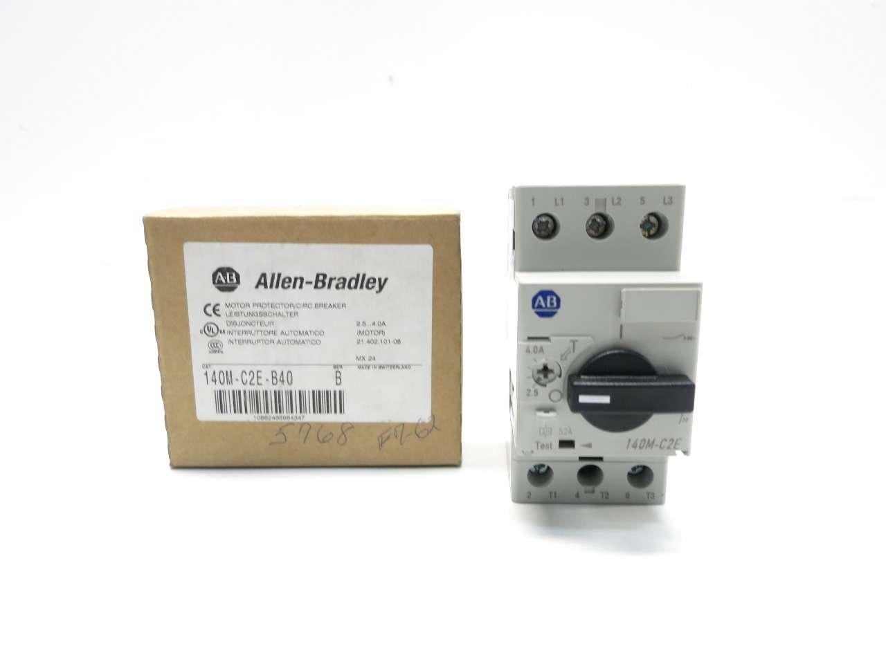 NEW ALLEN BRADLEY 140M-C2E-B40 SER B 3HP 2.5-4A AMP MANUAL MOTOR STARTER D512285 by Allen-Bradley (Image #9)