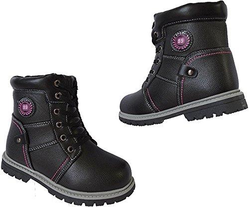 Jungen Boots Kinder Winter Schuhe Warmfutter Gr.26 - 31 Art.-Nr.2717 schwarz