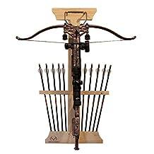 RealTree 39-4002 Crossbow and 10 Arrow Bow Rack