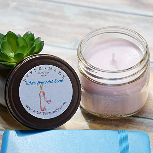 White Zinfandel Scented Soy Jar Candle, 4 oz