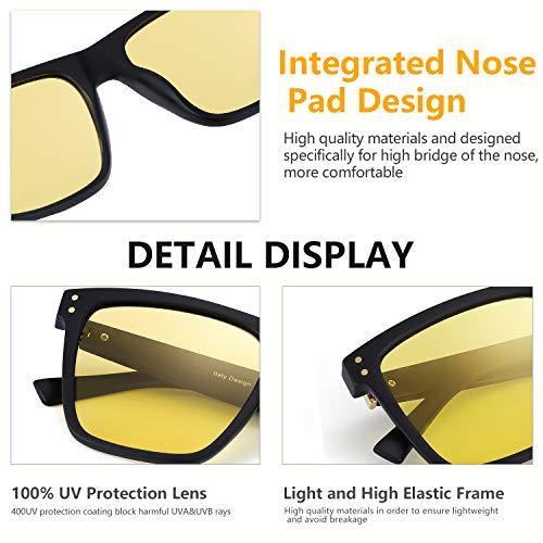 332f8aa97b Myiaur Unisex HD Night Vision Driving Polarized Square Glasses ...