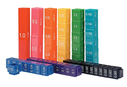 Learning Resources Fraction Tower Activity Set, Math accessories, Teaching aids, 51 Pieces, Ages 6+