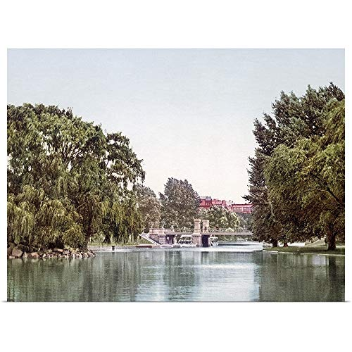 GREATBIGCANVAS Poster Print Entitled Lake in The Public Garden Boston Massachusetts Vintage Photograph by The Henry Ford 40