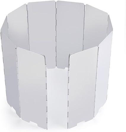 Plegable 10 platos viento bloqueador de escudo, al aire libre ...
