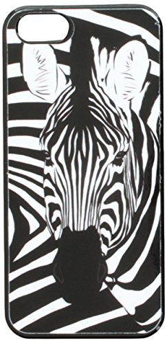 Graphics and More Zebra Safari Black White Animal Print Snap-On Hard Protective Case for Apple iPhone 5/5s - Non-Retail Packaging - Black