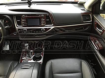TOYOTA HIGHLANDER INTERIOR WOOD DASH TRIM KIT SET 2014 2015 2016