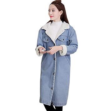 0514af63e0a1 Red Ta Women Winter Long Sleeve Turn-down Collar Inner Velvet Jacket ...
