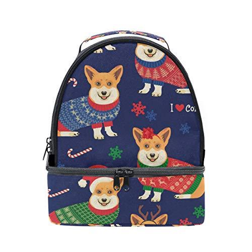 pour Cute Dog bandoulière lunch motifs isotherme avec Pincnic Alinlo à réglable Sac Sac Corgi l'école à Boîte HAqWd7Fw