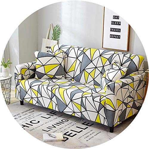Little Happiness- Flower Slipcover Sofa Cover Tightly All-Inclusive Wrap Single/Double/Three/Four-Seat Sofa Cover Elasticity Sofa Cover 1pc,Color 23,4 Seater ()