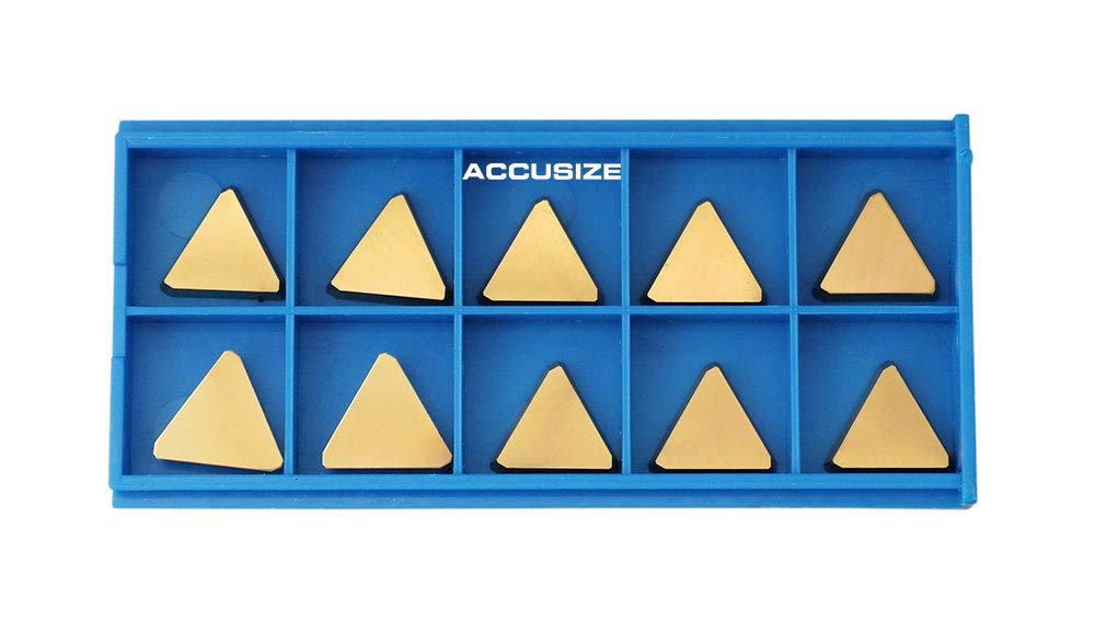 Accusize Industrial Tools Tpg322 Tin Coated Carbide Inserts 10 Pcs//Box 2127-1029x10
