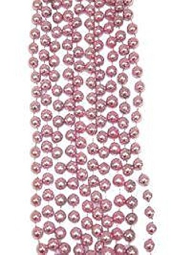 Mardi Gras, Easter, Metallic Baby Pink Beads, Necklace, 33