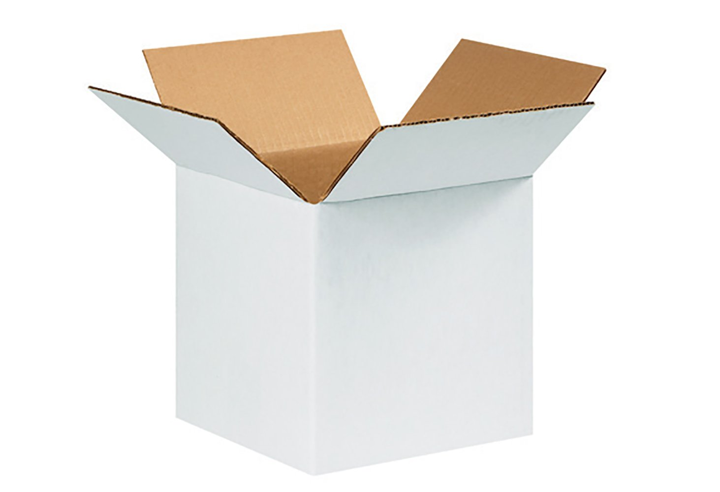 RetailSource B090909WB600 White Corrugated Box, 9'' Height, 9'' Width, 9'' Length, Brown (Pack of 600)