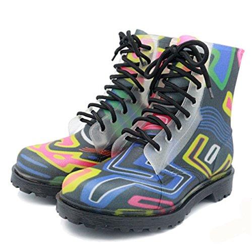 d7cfae3e8f3 Antideslizantes Moda Senderismo De Botas Con Lluvia Zapatos Cordones  Cordones Cordones d188af