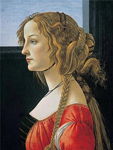 High Quality Polyster Canvas ,the Imitations Art DecorativeCanvas Prints Of Oil Painting 'Sandro Botticelli-Profile Portrait Of A Young Lady (Simonetta Vespucci),c1476', 16x21 Inch / 41x54 Cm Is Best For Gym (Maple Oak Armoire)