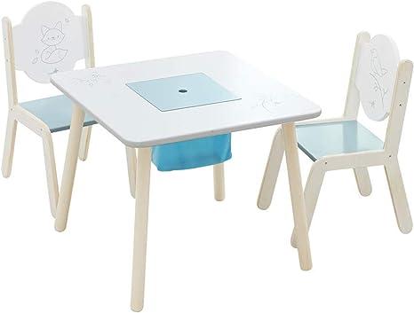 Labebe Juego Mesa Infantile con Silla, Pájaro Blanco Silla ...