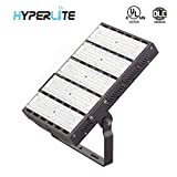 Hyperlite 300W Outdoor Flood Lights UL/DLC Premium Approved 39,000LM 130lm/w 5000K Type 3 Distribution AC 100-277V Input with U-Bracket Mounting for Piazza Billboards Pathway