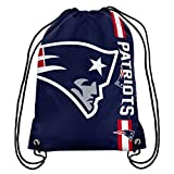 NFL New England Patriots 2015 Drawstring Backpack, Blue