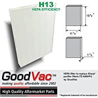 Sharp FZ-A80HFU Ion Air Purifier Replacement HEPA Filter by GoodVac