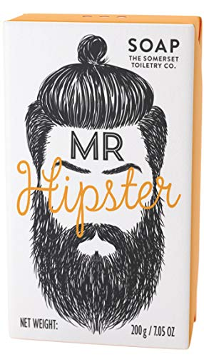 Mr Beard Soaps Mr. Hipster, Black Pepper and Ginger, 200g, Orange
