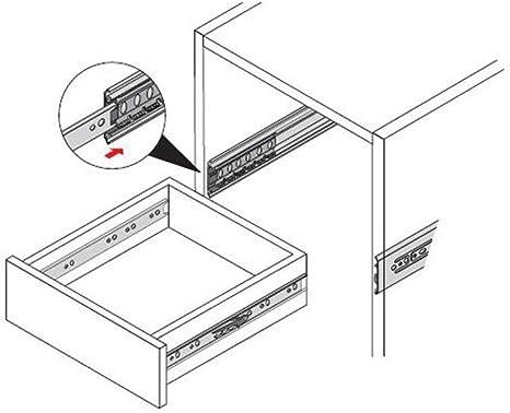1-Pair Zengest Full Extension Less Noise Ball Bearing Drawer Slides 10 Inches