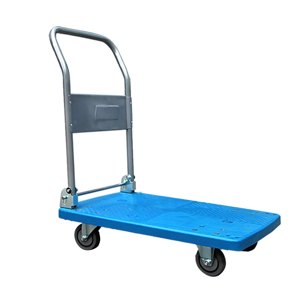 Shoutuiche Trolley Folding cart Hand cart Trolley cart Folding Trailer cart Trolley cart Flat cart (Size : 90cm*60cm*88cm) LEYOUDIAN