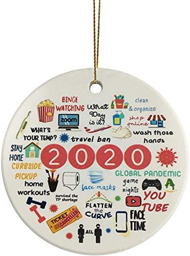 2020 Ornament Year of Quarantine Ornament Funny Ornament Pandemic Christmas Ornament Commemorative Ornament