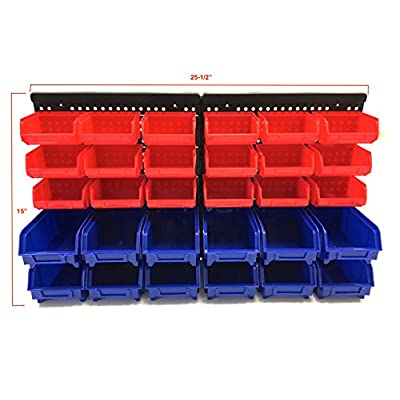 MaxWorks 80694 30-Bin Wall Mount Parts Rack/Storage for your Nuts, Bolts, Screws, Nails, Beads, Buttons, Other Small Parts: Home Improvement