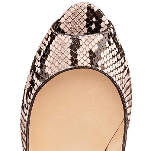 con mujer de para tacón de corte peep tacones Zapatos de toe uBeauty alto zIYqwnv