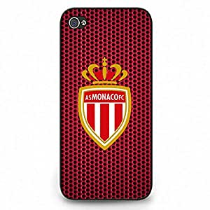 AS Monaco Logo Phone Case Cover For Iphone 5C,Protective Black Hard Plastic Case For Iphone 5C