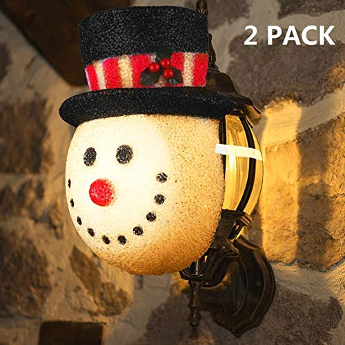 Outdoor Snowman Light Covers in US - 1