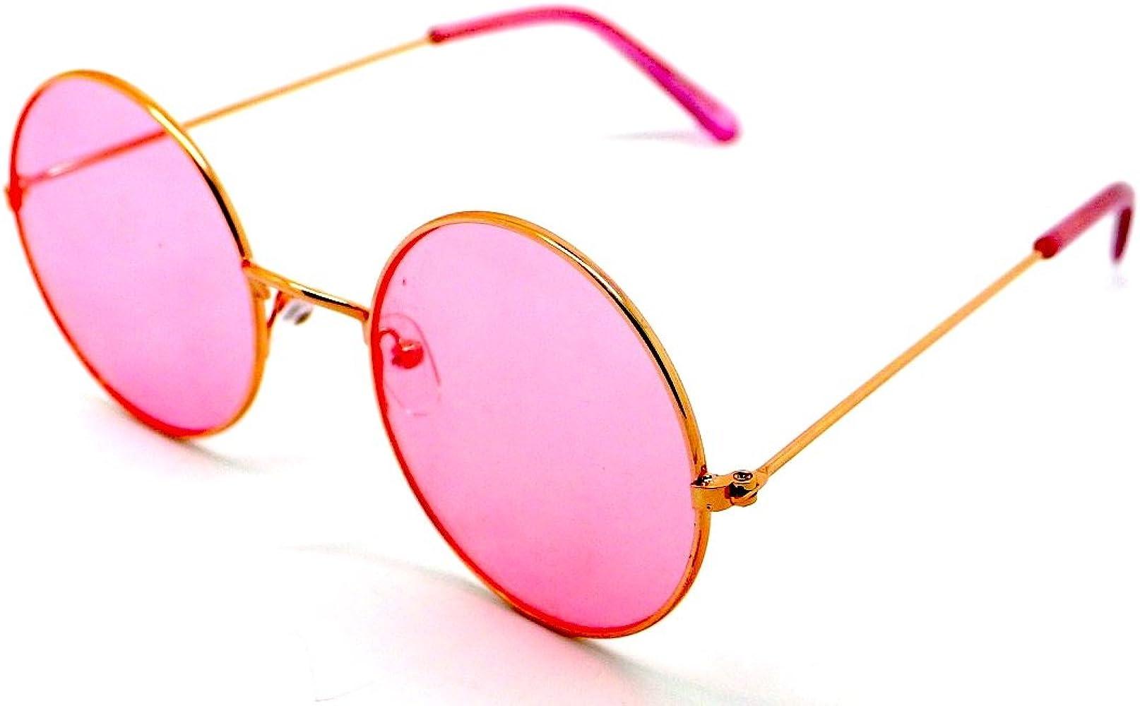 Totalcovers Gafas de Sol Hippie Retro Redondas Lagofree Alta ...