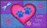 Toland Home Garden 800085 Soft Step Designer Mat, Standard, Love Live Bark, Multicolor